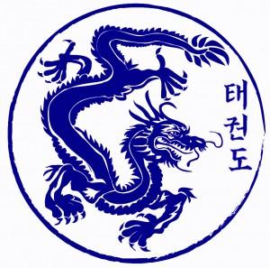 tae kwon do logo blue