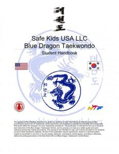 Blue Dragon Taekwondo Student Handbook front